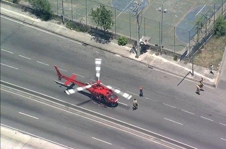 Pista central chegou a ser bloqueada para pouso de helicoptero
