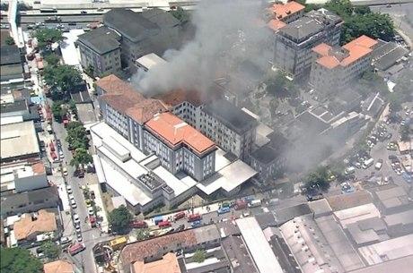 Chamas atingiram Hospital Federal de Bonsucesso