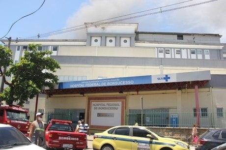 Prédio 1 do hospital foi atingido por incêndio
