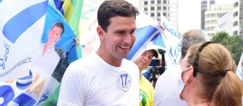 Luiz Lima esteve no no Largo da Carioca, no Centro do Rio
