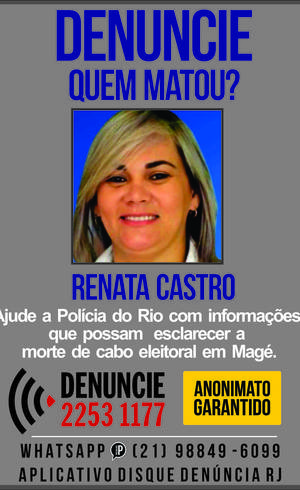 Renata foi morta com 14 tiros
