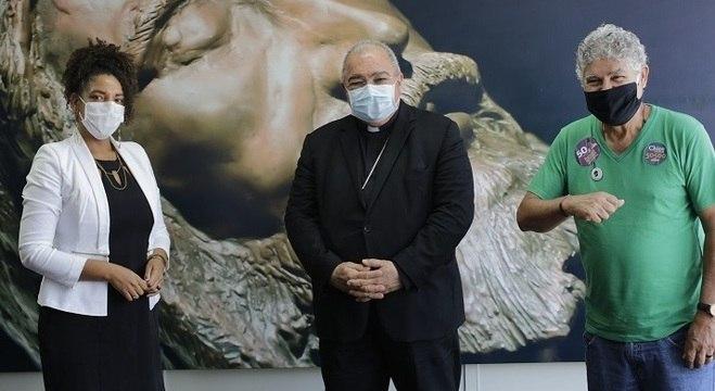 Renata Souza foi recebida pelo arcebispo cardeal do Rio
