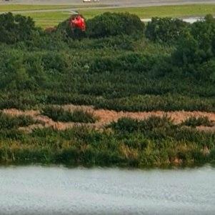 Avião caiu  às margens de lagoa