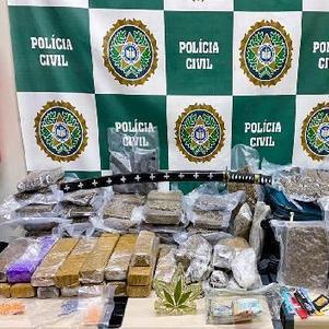 Polícia encontrou mais de 67 kg de maconha
