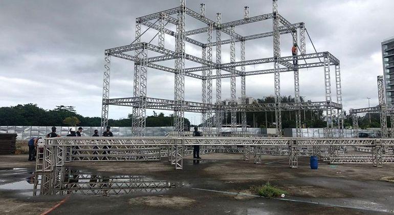 Estrutura do evento foi montada em área de 150 mil m², no Parque dos Atletas