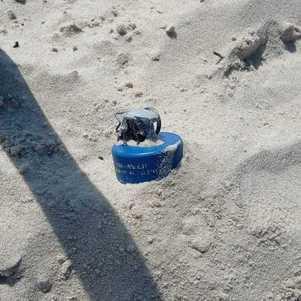 Material encontrado na areia