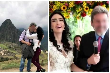 Casal em viagem ao Peru e na cerimônia de casamento