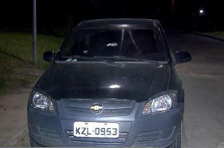 Carro de casal foi alvejado durante assalto