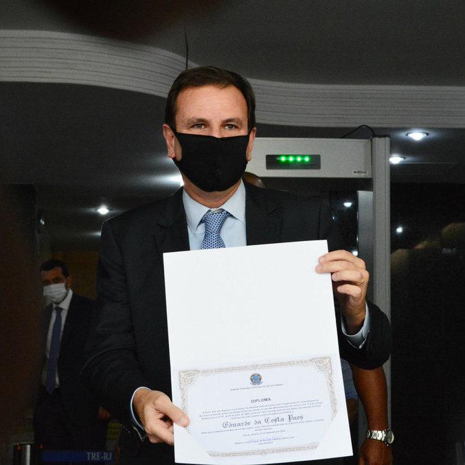 Eduardo Paes recebeu diploma do TRE no dia 18 e será empossado nesta sexta