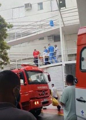 Fogo atinge hospital