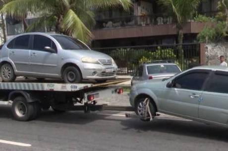 Neste fim de semana, 508 carros foram rebocados