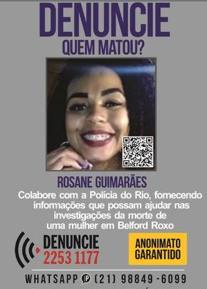 Disque Denúncia busca informações sobre morte de Rosane