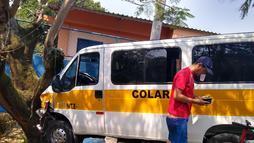 Van que atropelou crianças não podia fazer transporte escolar no Rio de Janeiro (Reprodução)