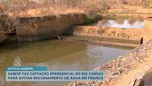 Sabesp faz captação emergencial no rio Canoas