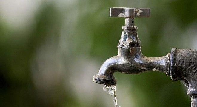 Nesta quinta, água só chegará aos moradores da parte central do município
