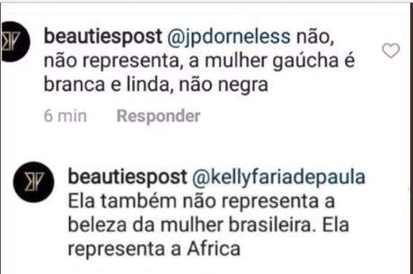 Comentários racistas contra a Samen dos Santos