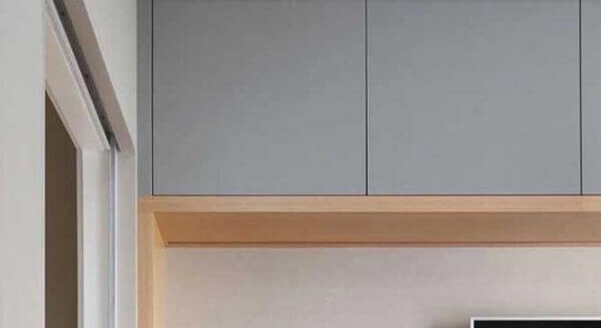 rack de madeira moderno para sala planejada