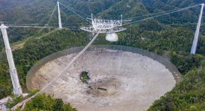 Radiotelescópio vem sendo danificado desde agosto desde ano