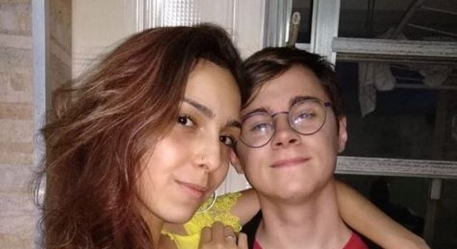Rafael Miguel e a namorada, filha de Cupertino