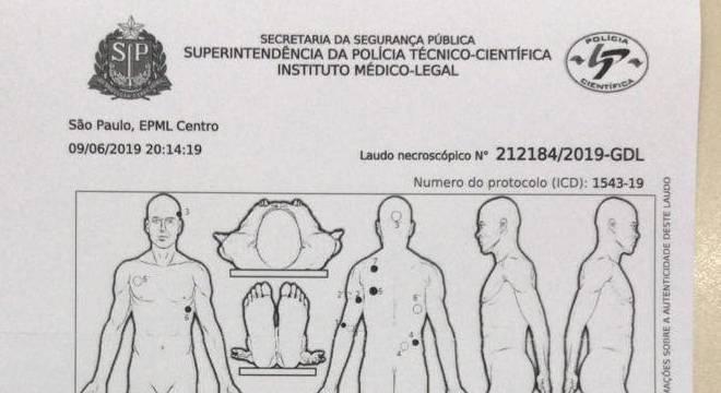 Laudo necroscópico mostra que Rafael Miguel foi atingido por 13 tiros