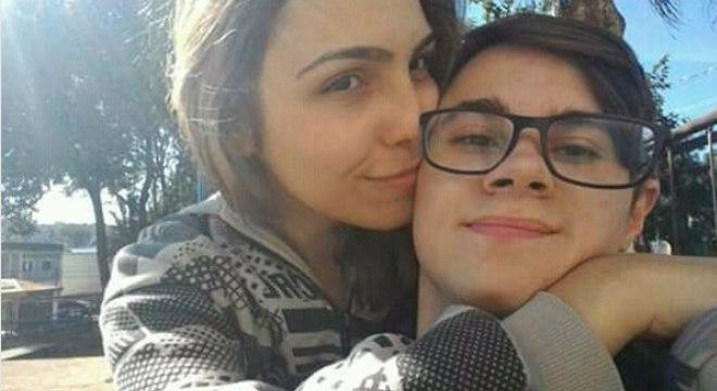 Rafael Miguel e a namorada