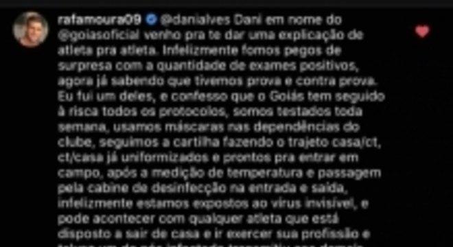 Rafael Moura resposta