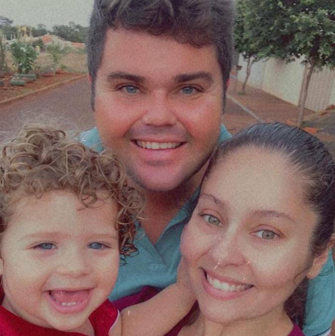Rafael e Silvia são pais de Davi, de um ano de idade