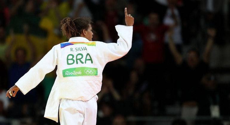 Rafaela Silva, da categoria até 57 kg, volta a competir em outubro, no Mundial Militar, em Paris