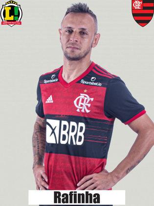 Rafinha - 4,5 - Deu espaço para Marquinhos e Arana no primeiro tempo. A jogada do gol do Galo foi no seu setor. Foi nulo no apoio ao ataque.
