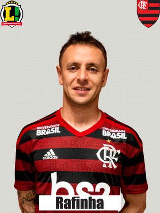 Rafinha - 6,0 - Deixou espaços para os Fluminense criar pelo seu setor. Teve visão de jogo ao achar Gabigol e iniciar o contra-ataque que terminou no segundo gol.
