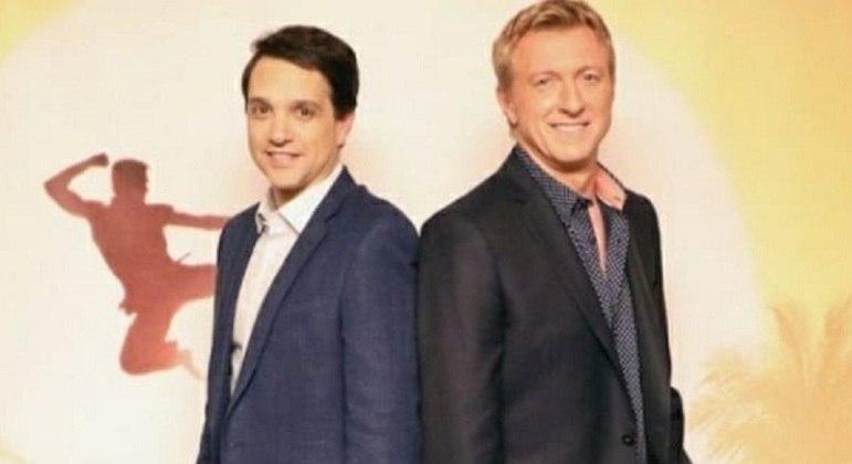 """Ralph Macchio e William Zabka, protagonistas de """"Cobra Kai"""", da Netflix"""