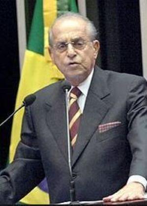 Ramez Tebet na tribuna do Senado