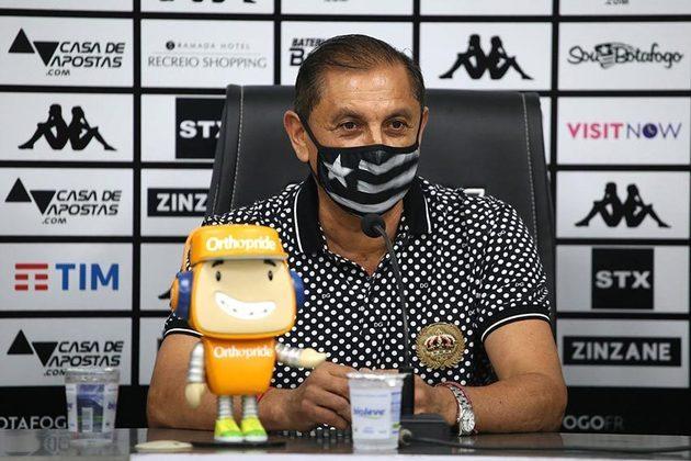 Ramón Diaz - 2020 - Botafogo: O treinador chegou mas não conseguiu comandar o time pois passou por uma cirurgia. Sua comissão técnica assumiu às rédeas do Fogão. Foram três derrotas em três jogos.