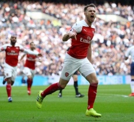 Ramsey fez um bonito gol