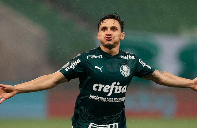 Raphael Veiga - Meia - Palmeiras - Valor segundo o Transfermarkt: 4,5 milhões de euros (aproximadamente R$ 28,22 milhões)