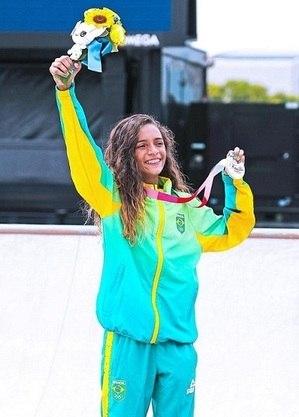 Rayssa Leal, medalha de prata no Japão