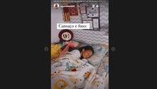 Rayssa Leal chega em casa e posta foto dormindo: 'Cansaço e fuso'