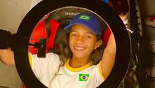 Rayssa Leal elogia brasileiras e chora com medalha de britânica