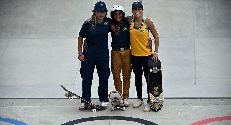 Pamela Rosa, Rayssa Leal e Leticia Bufoni, as skatistas do Brasil