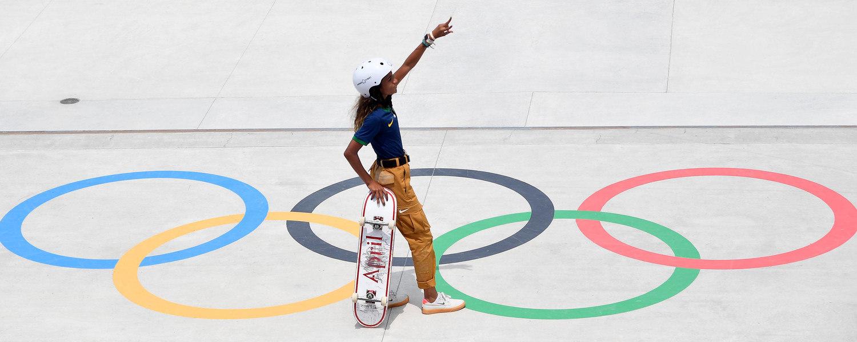 Rayssa Leal é a atleta mais jovem a representar o Brasil em uma Olimpíada