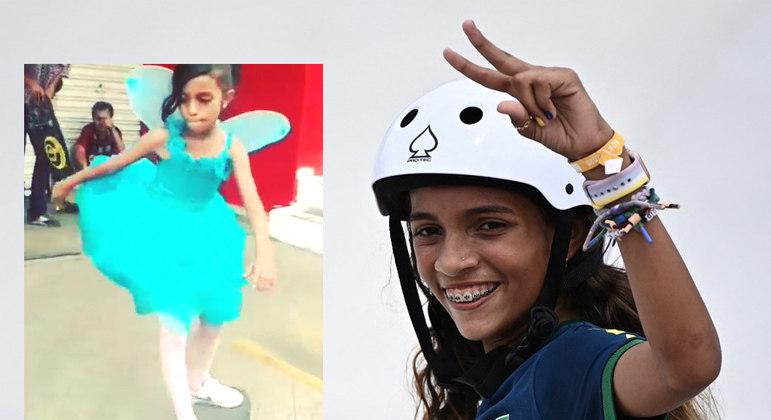 Rayssa Leal e a imagem que viralizou com ela vestida de fada em 2015