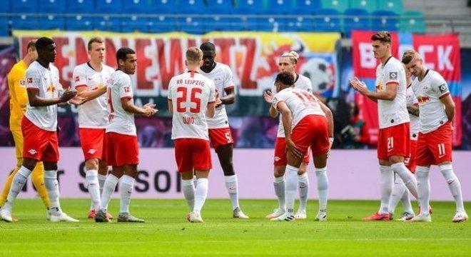 O RB Leipzig, ao obter a classificação