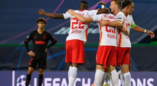 A eficiência, a ousadia do RB Leipzig venceram a covardia do Atlético de Madrid