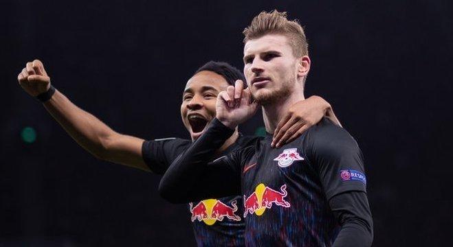 RB Leipzig, 2 X 1 no Tottenham, em Londres