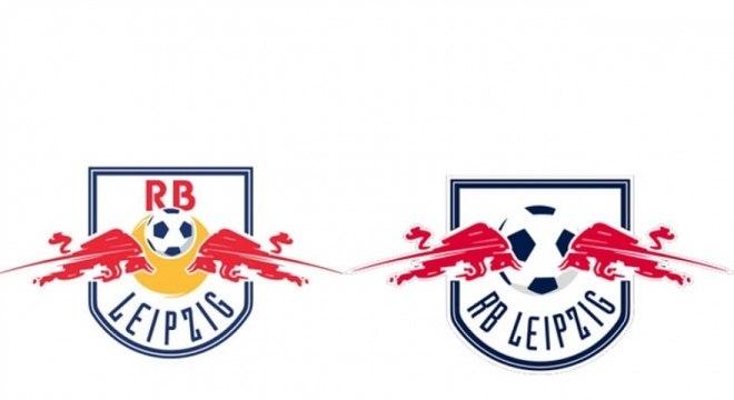 RB Leipzig - O RB Leipzig  foi obrigado a mudar seu escudo pela Liga Alemão de Futebol quando subiu para a segunda divisão do país. O emblema anterior fazia referência à Red Bull, patrocinadora do clube, o que é vetado pela organização local