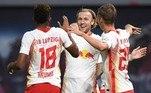 De volta à Alemanha, o RB Leipzig atropelou o Schalke 04 e afundou ainda mais o rival, que já está há 18 jogos sem vencer. Bozdogan, Angeliño, Orban e Halstenberg marcaram os gols da goleada por 4 a 0