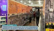Comerciantes comemoram volta do atendimento presencial em Franca