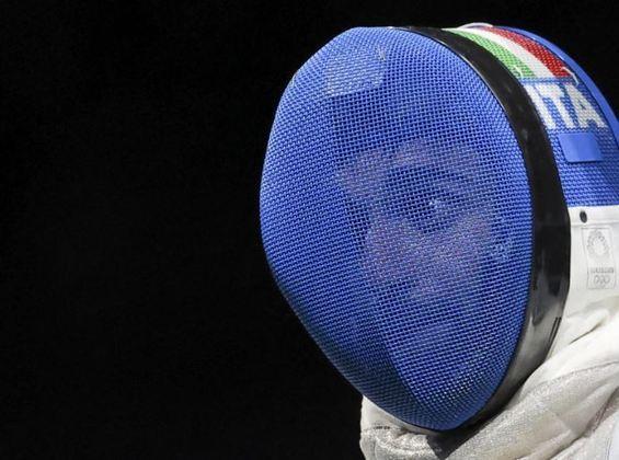 Nem mesmo o equipamento de proteção foi capaz de esconder a expressão inusitada feita pelo italianoDaniele Garozzo, da esgrima, enquanto competia