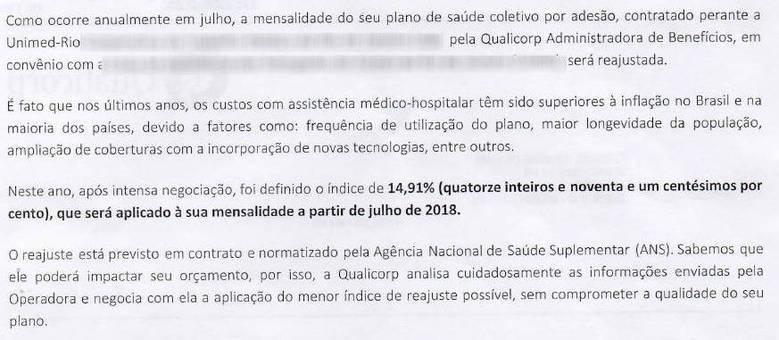 Jorge vai pagar mensalidades 14,91% mais caras nos próximos 12 meses