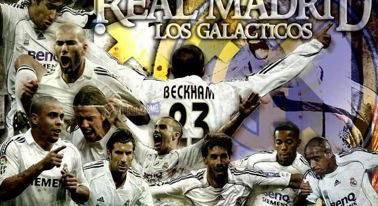 """Um pôster dos """"Galácticos"""" do Real Madrid"""